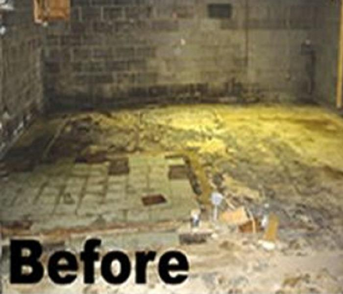 Flooded Basement Before