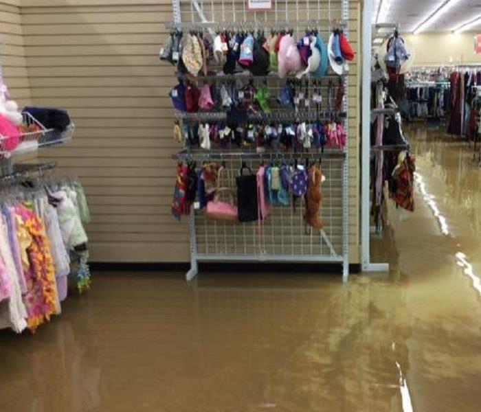 Flood in a retail store