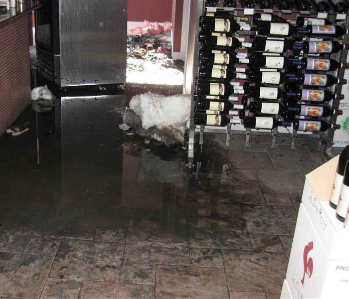 Flood at a wine store