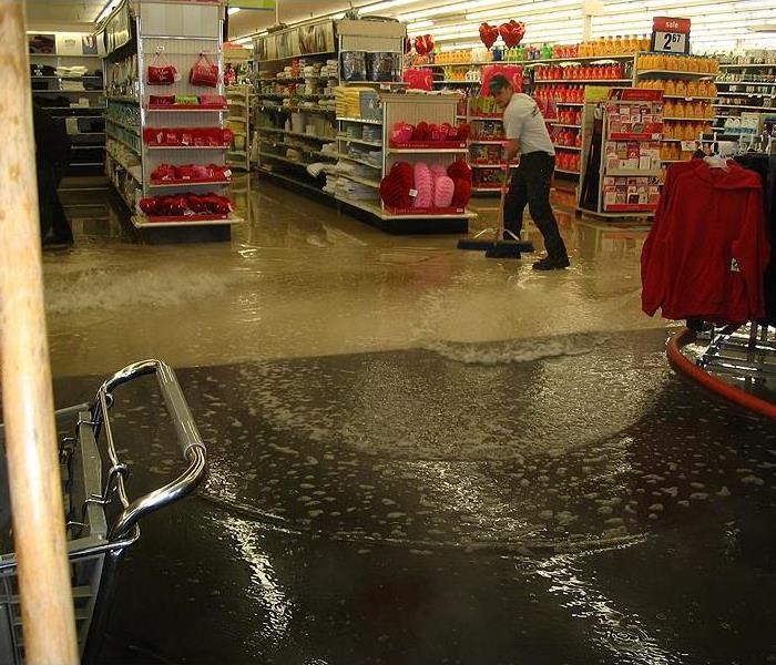 Flooding at a large retail store