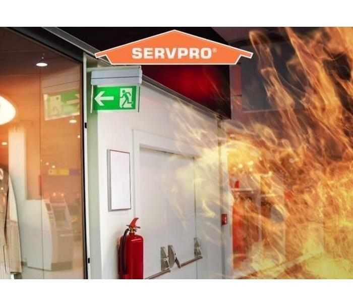 Fire in business with logo